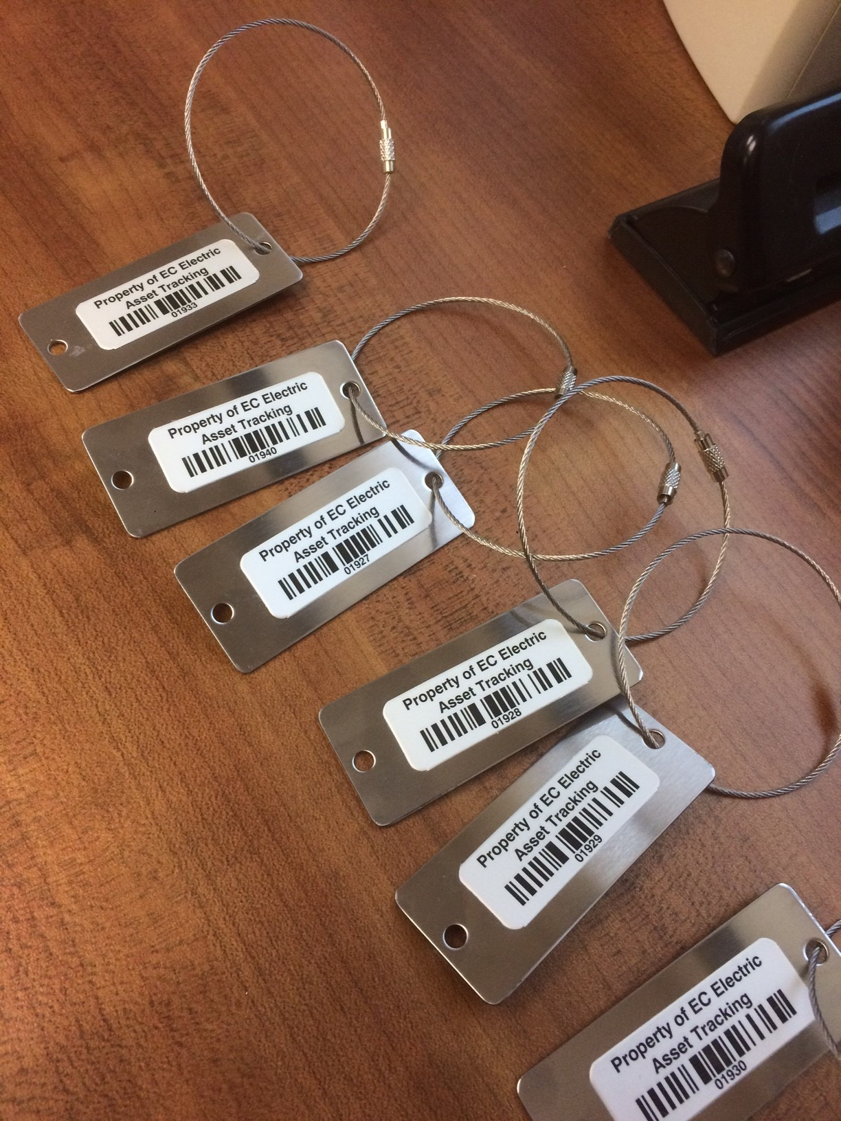 Keychains with bar-codes