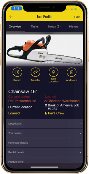 Tool Tracking App for Contractors